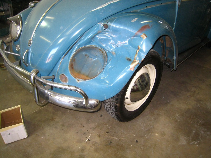1962 Ragtop Bug Collision Repair and Patina Match