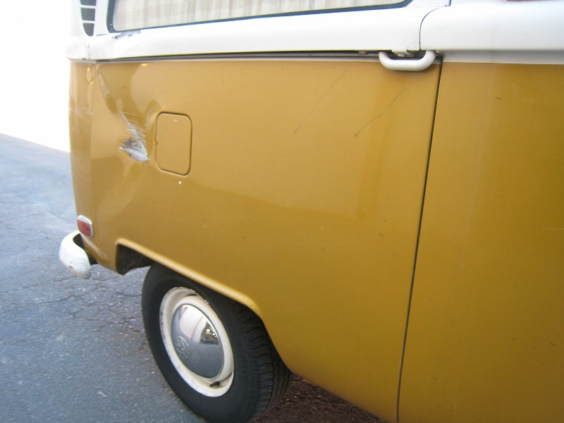 1970 Bay Window Bus Collision Job
